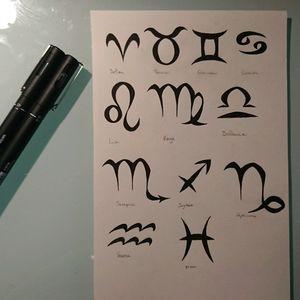 Astrologic signs #tattoos #tattoo #tribal #astrologic #signs #Leo #Taurus #virgo #cancer #gemini #balance #Aries #fish #scorpio #sagittarius #capricorn #aquarius #black