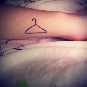 Hanger tattoo #fashion #hanger