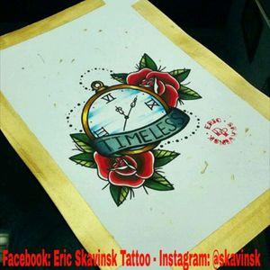 Instagram: @skavinsk #ericskavinsktattoo #clock #tattoorelogio #clocktattoo #rosetattoo #tattoorosa #neotradsub #neotraditional #exclusive #creative #beards #design #ilustration #ink #tatts #tattsketches #tattoopins #russiantattoo #cool #arte #desenho #tattoodo #eletricink #artfusion