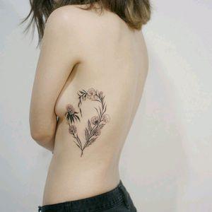 By #tattooistdoy #flower #floral