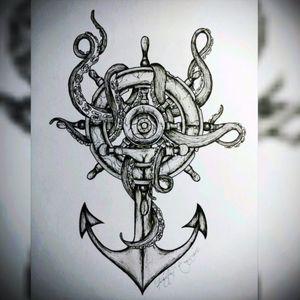 Sailor ink. #sailor #anchor #sea #animal #ink #direction #ocean #creature #octopus