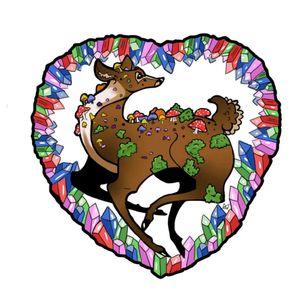 #deer #pastel
