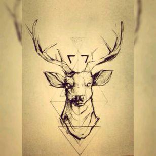 Deer. #deer #deertattoo #wildlife #forest #horn #eyes #triangel #deermeatfordinner #deventer #sketchy #sketch #drawing #ear