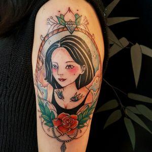 #tribalmike #adelaide #tattooist #portrait #rose #colorful #followme #australia #artaroundtheworld