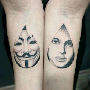 """V for Vendetta""  -  INSTAGRAM:  _mfox                                     #vpervendetta #tattoo #blackandgrey #black #blackwork"