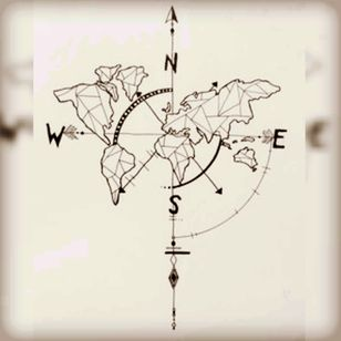 Where to go? #map #compass #drawing #sketch #drawing #world #geometric #inkspired #north #west #east #south #deventer #pirate #pirateslifeforme