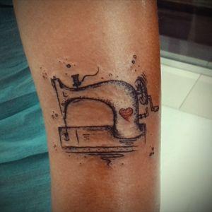 #sewingmachine #blackwork #dotwork #arm #arm_tattoo #fashion