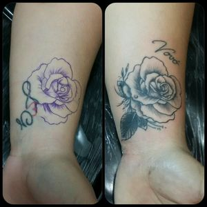 #allanotattoo #inklovers #inked #coveruptattoo #coverup #rose #flower