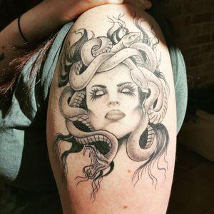 #tattoo#mudusa#black#gray#loveink