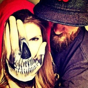 My beautiful wife and me have some fun :) #blackandgray #badass #skull #on #hand #hannover #mobileinkstitution #follow4follow