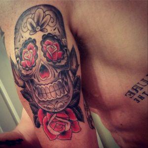 #candyskull #arm_tattoo #tattoo