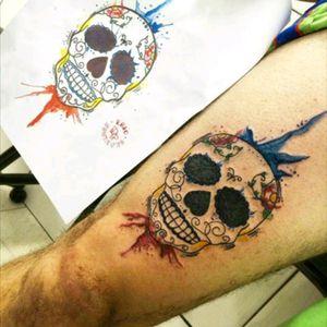 Instagram: @skavinsk  #ericskavinsktattoo #skulltattoo #watercolor #tattooaquarela #caveira #caveiramexicana #sugarskull #exclusive #exclusivo #namps #osascotattoo #tattoosp #tguest #tattoo2me #tattsketches #frictiontattoo #carapicuiba #arte #nicetattoo #artfusionstarter #tattoodo #eletricink