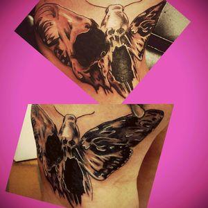 #butterflyskulltattoo #skulltattoo #mywork