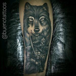 #fineline #blackworker #dotwork #tattooblack #blackandgrey #tattoolobo #tattoosamurai #tattoowolf
