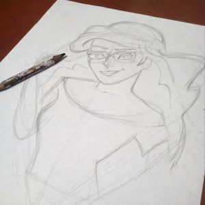 #girl #pencil #pencilart #skech #drawing