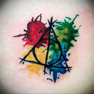 Harry Potter and the Deathly Hallows splatter #harrypotter #splashcolor #splatter #deathlyhallows #always