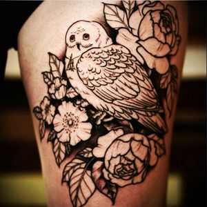 Hedwig from Harry Potter with flowers #hedwig #harrypotter #flower #owl #always