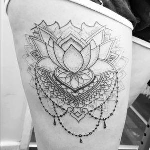 #lotustattoo #lotusflower #mandala #mandalatattoo #womenwithtattoos #tattooedwomen