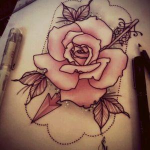Flower 💕 #tattoo #flower #desieñotatto #design #color #pink #Black #tabletattooo #TattedAllOver #tattoart #artattoo
