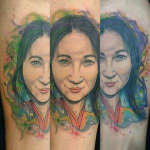 Portrait watercolor #portraitattoo #inked4life #watercolortattoo