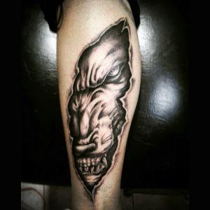 #wolf #surrealtattoo #blackAndWhite #tattoocolombia #ink