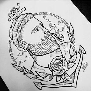 Estudo de marinheiro... Pra minha amiga. 💪💪 #marinheiro #sailor #tattoo #tattoo2me #desenho #art #drawing #drawing2me #tatowierung #t4ttoois #tatouage #tonoinsptattoos #tattoodo #tattoobrasil