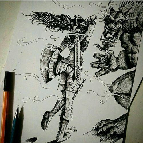 #fantasy #warrior #tattoo2me #guerreira #tatowierung #t4ttoois #tatouage #tonoinsptattoos #tattoodo #tattoobrasil