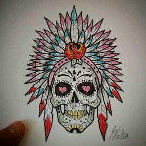 Caveira mexicana a pedido da Amanda. 😀 #mexican #skull #caveira #mexicana #rose #newschool #drawing2me #drawing #dibujo #desenho #tattoo #tattoo2me #tatowierung #t4ttoois #tatouage #tonoinsptattoos #tatuaje #tattoobrasil #inspirationtatto #tattooed #tattooart #tattooflash #tattooist #inked #inkedup #inkedlife #inkedlifestyle #inkaddict #instagood #tatuagemfeminina