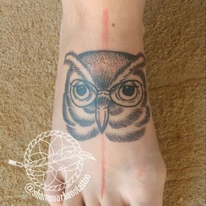 Owl Dotwork Tattoo!! #dotworktattoos #tattoolifestyle #tattoolovers #inklifestyle #inklovers #inkmaster #bestink #shamanurbanotattoo