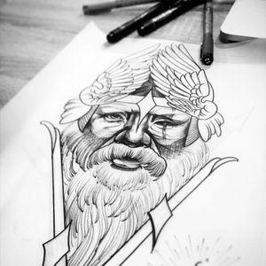 #Odin #tattoo. Artists instagram - @madisongarden