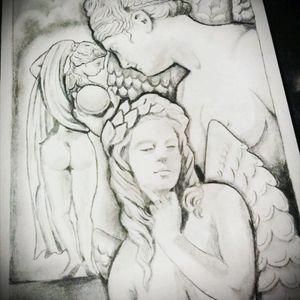 Estatuas #dibujolapiz  #karmaTattoo