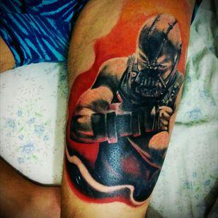 Tattoed by Pablo drokz marciro #bane #batman #realism