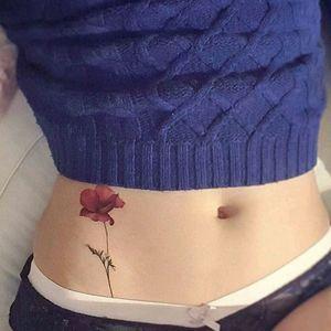 By #tattoist_flower #rose #flower #pretty #welove #simple