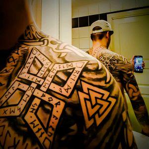 #Blackwork #Viking #NorseTattoos #Norse #tattoo_artwork #Vikings