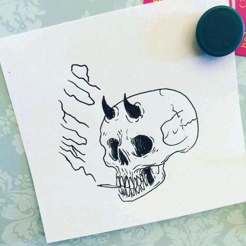 #myticalcreature # cráneo #demon #guatemala #Shutup #diseño #designer