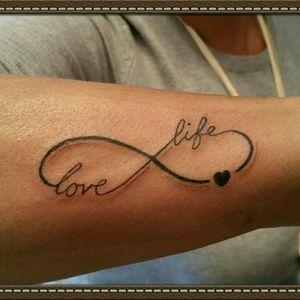 Love life eternity tattoo #eternity  #love #life #stigmarotary #silverbackink #stencilstuff #spiritstencil  #inkeezegreenglide #Criticalpowersupply #killerinktattoosupplies