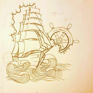#nautical #drawing #tattoodrawing