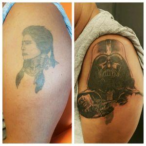 #inkeddad #tattooeddad #tattooeddaddy #darthvader #darthvadertattoo #coverup