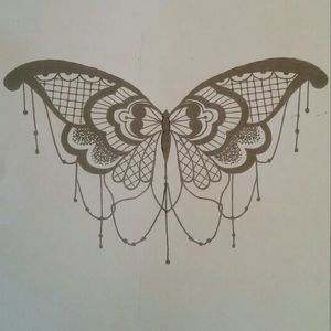 Lace butterfly #lace #butterfly #drawing
