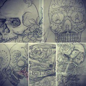 Sketch #sketchaday #tattoo_art_worldwide #tattooidea #skulltattoodesign