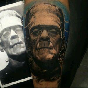#FredyTomas #Frankenstein #Portrait  #Realism #BlackandGray