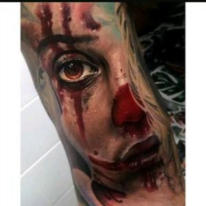 #FredyTomas #Girl #Face #Eye #Blood  #Realism #Portrait #Color