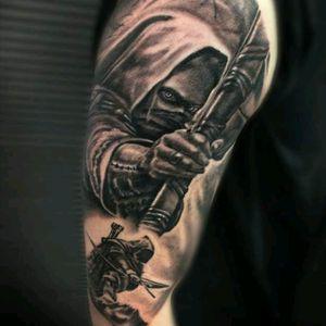 #hunter #Archer #assassin #tattoo #jammestattoo #