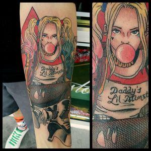Harley Quinn #inkfusion #inkfusionempire #geektattoo #geekedouttattoos #geeksterink #geekytattoos #comicbooktattoo #nerdytattoos #nerdtattoo #nerd #traditionaltattoo #realtattoos #realtraditional #tattoos #dccomicstattoo #dccomics #batman #batmantattoo #harleyquinn #harleyquinntattoo #suicidesquad #skwad #suicidesquadtattoo