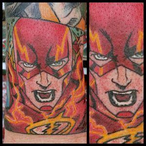 The Flash #inkfusion #inkfusionempire #geektattoo #geekedouttattoos #geeksterink #geekytattoos #comicbooktattoo #nerdytattoos #nerdtattoo #nerd #traditionaltattoo #realtattoos #realtraditional #tattoos #dccomicstattoo #dccomics #theflash #theflashtattoo #barryallen #zoom #zoomtattoo #jaygarrick #cwflash