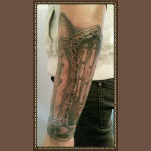 Assasins creed sleeve #blackandgrey #tattoo #sleeve  #cheyennehawk  #silverbackink #Criticalpowersupply #hustlebutterdeluxe #inkeezegreenglide #killerinktattoosupplies