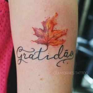 Gratidao! Travel tattoo :) #mappleleaf #mapple #canada #canadian #brasil #parana #gratidao #watercolor