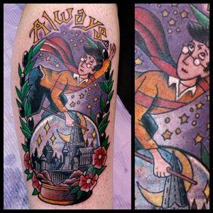Harry Potter #inkfusion #inkfusionempire #geektattoo #geekedouttattoos #geeksterink #geekytattoos #comicbooktattoo #nerdytattoos #nerdtattoo #nerd #traditionaltattoo #realtattoos #realtraditional #tattoos #harrypotter #harrypottertattoo