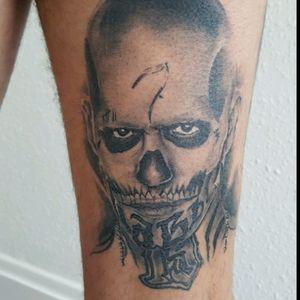 Healed piece #tattoo #fkirons #killerinktattoo #skindeeptattoo #tattooartist #silverbackinkinstablack #silverbackink #stencilstuff #blkpowder #diablo #suicides #ezcartridgesuk