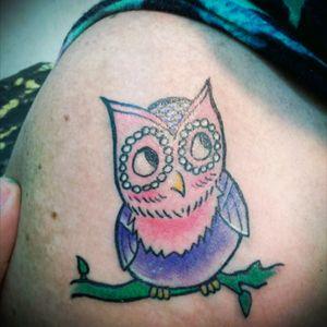 #tattoo #búho #girltatoo #traditional_tattoo